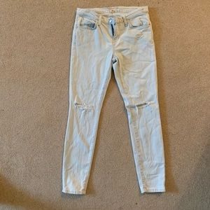 LOGG light  wash distressed jeans